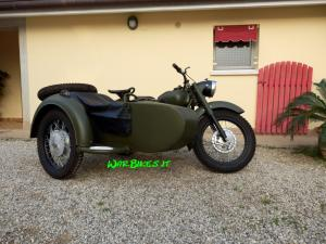 Dnepr K750 matte green (1)restaurato